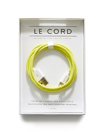 [LE CORD] USB charge solid yellow cable&nbsp