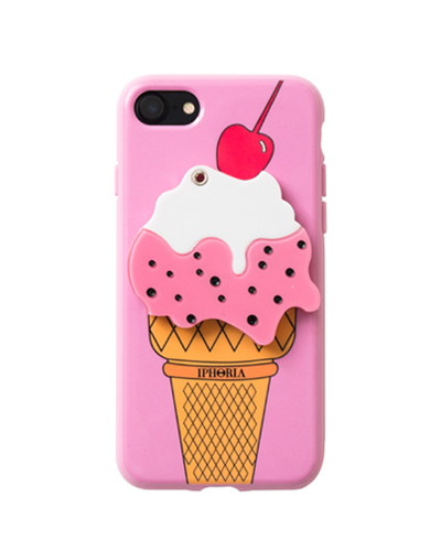 [IPHORIA] ice-cream mirror pink caseiPhone 7