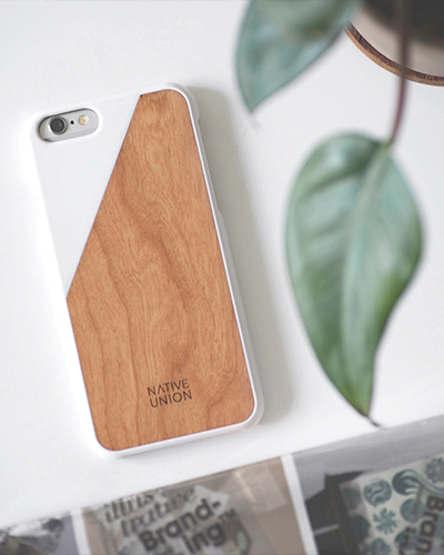 [N.UNION] clic wooden white caseiPhone 6S/6
