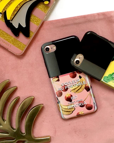 [IPHORIA] nail polish fancy fruit caseiPhone 7