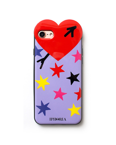[IPHORIA] multi star heart case iPhone 7